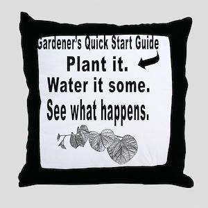 Gardening quick start guide Throw Pillow