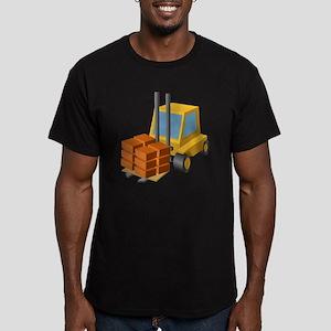 Forklift Men's Fitted T-Shirt (dark)