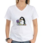 Scrapbook Penguin Women's V-Neck T-Shirt
