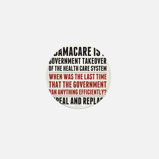Repeal And Replace Obamacare Mini Button