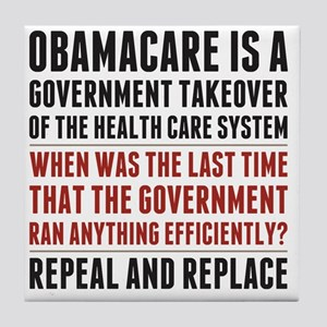 Repeal And Replace Obamacare Tile Coaster