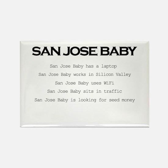 Funny San jose Rectangle Magnet