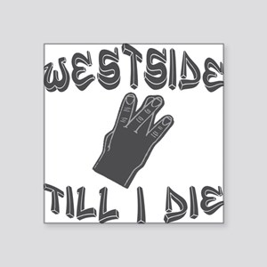 "West Side Square Sticker 3"" x 3"""