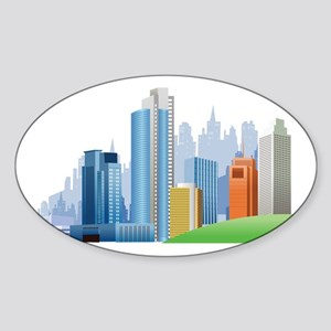 Skyline Sticker (Oval)