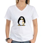 Support Troops Penguin Women's V-Neck T-Shirt