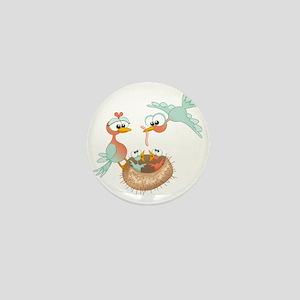 Bird Family Mini Button