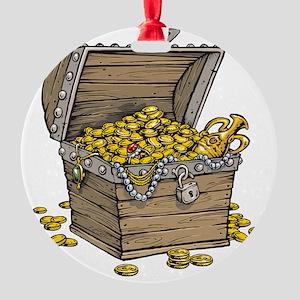 Treasure Round Ornament