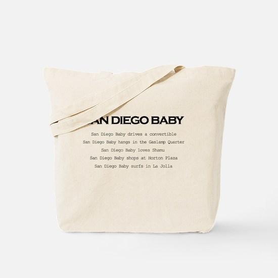 San Diego Baby Tote Bag