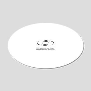 WFMT Logo (Block) 20x12 Oval Wall Decal
