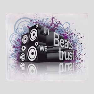In Beats We Trust Throw Blanket