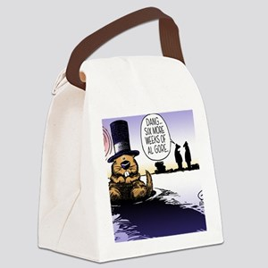 Groundhog Day Canvas Lunch Bag