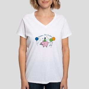 Boy Happy Birthday Women's V-Neck T-Shirt