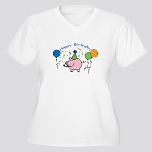 Boy Happy Birthday Women's Plus Size V-Neck T-Shir