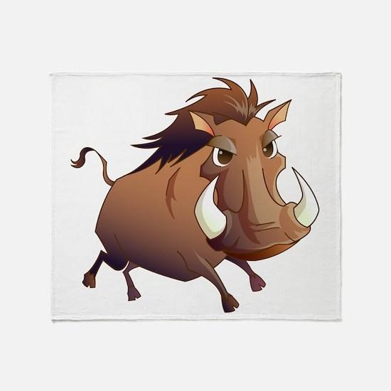 Wild Boar Throw Blanket