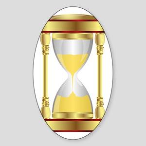 Hourglass  Sticker (Oval)