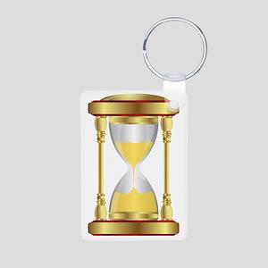 Hourglass  Aluminum Photo Keychain