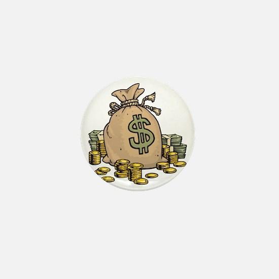 Money Bags Mini Button