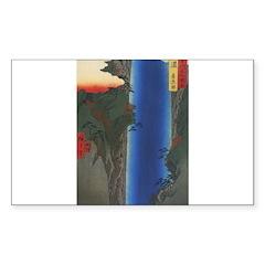 waterfall print Rectangle Decal