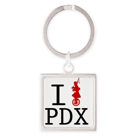 Unipipe PDX Square Keychain
