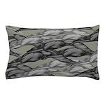 Greyhounds Leaping Tan Pillow Case