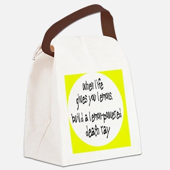 lemonsbutton Canvas Lunch Bag