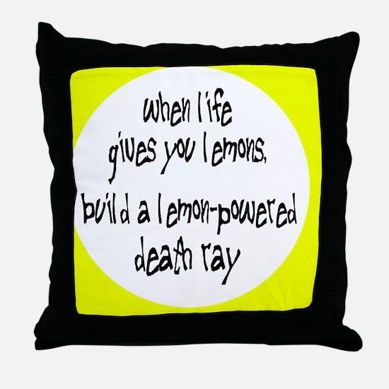 lemonsbutton Throw Pillow