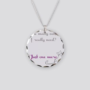 Just One More Cat Necklace Circle Charm