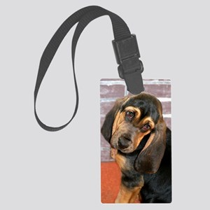 Bassett Puppy Greeting Card Large Luggage Tag