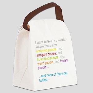antibullying Canvas Lunch Bag
