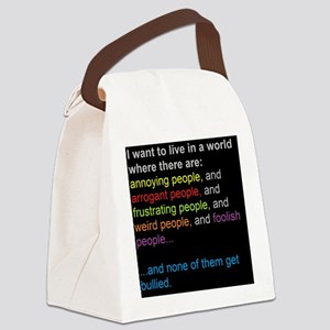 antibullyingblackbg Canvas Lunch Bag