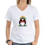 Clown penguin Women's V-Neck T-Shirt