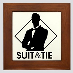 Suit and Tie Framed Tile