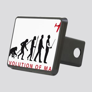 evolution of man with mode Rectangular Hitch Cover