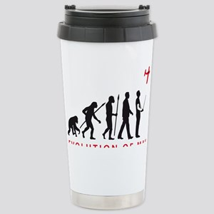 evolution of man with m Stainless Steel Travel Mug