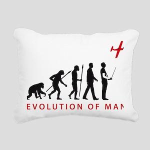 evolution of man with mo Rectangular Canvas Pillow