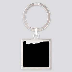 Black Square Keychain