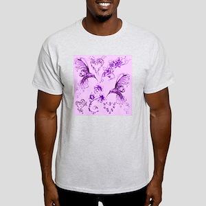 Hummingbirds Shower Curtain Light T-Shirt