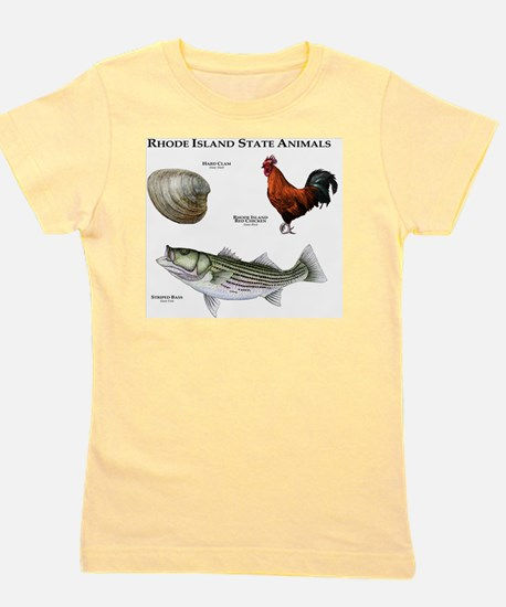 Rhode Island State Animals Girl's Tee