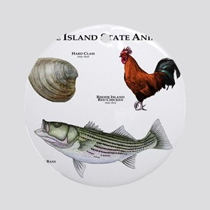 Rhode Island State Animals Round Ornament