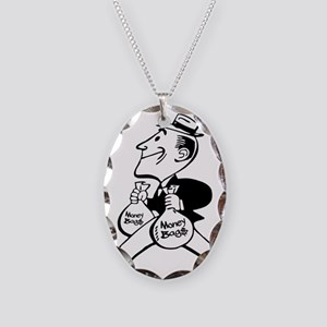 Mr. Money Bag$ Necklace Oval Charm