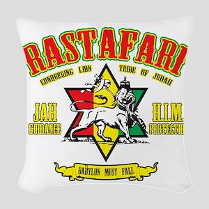 Rastafari Woven Throw Pillow