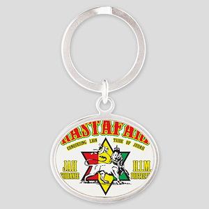 Rastafari Oval Keychain