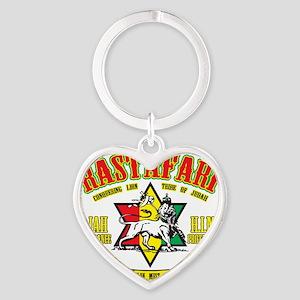 Rastafari Heart Keychain
