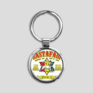 Rastafari Round Keychain