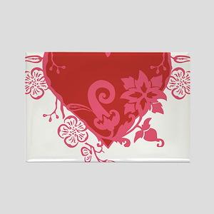 HeartTatDark Rectangle Magnet