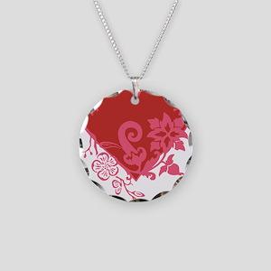 HeartTatDark Necklace Circle Charm