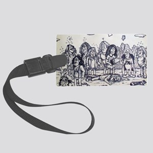cook out Large Luggage Tag