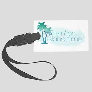 Island Time 1 Large Luggage Tag