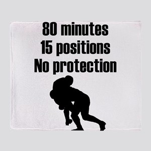 No Protection Rugby Throw Blanket