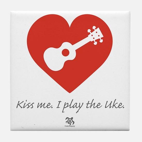 Kiss Me Uke Tile Coaster